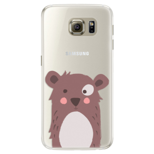 Silikonové pouzdro iSaprio - Brown Bear - Samsung Galaxy S6 Edge