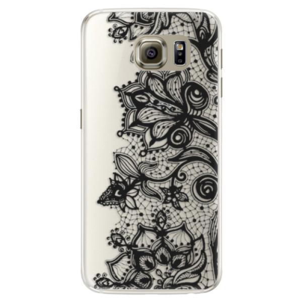 Silikonové pouzdro iSaprio - Black Lace - Samsung Galaxy S6 Edge