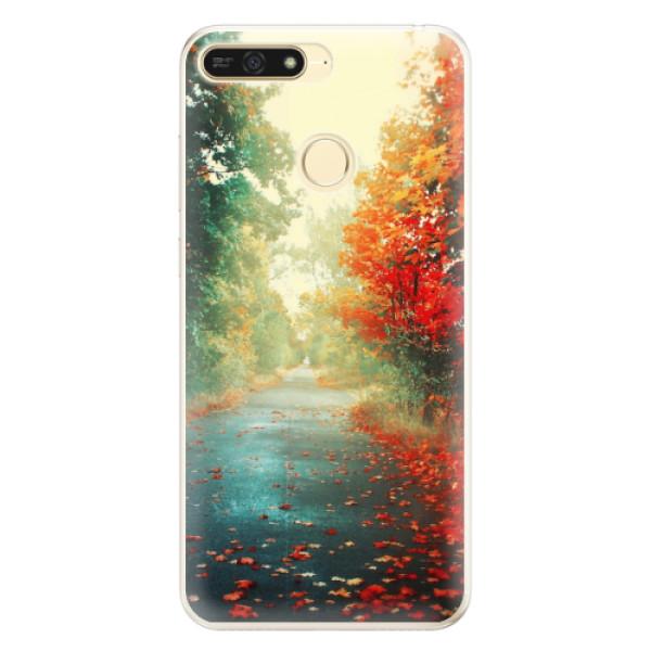 Silikonové pouzdro iSaprio - Autumn 03 - Huawei Honor 7A