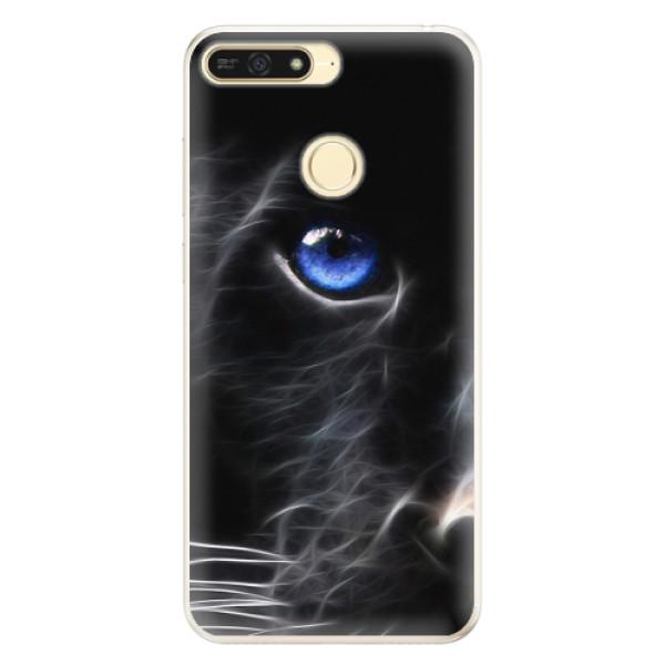 Silikonové pouzdro iSaprio - Black Puma - Huawei Honor 7A