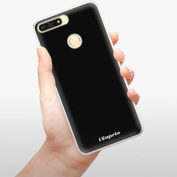Silikonové pouzdro iSaprio - 4Pure - černý - Huawei Honor 7A