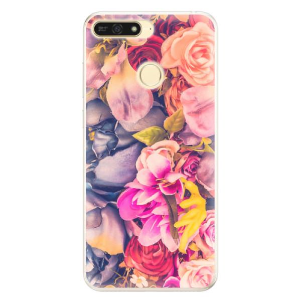 Silikonové pouzdro iSaprio - Beauty Flowers - Huawei Honor 7A