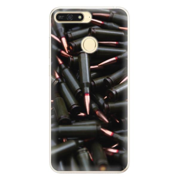 Silikonové pouzdro iSaprio - Black Bullet - Huawei Honor 7A