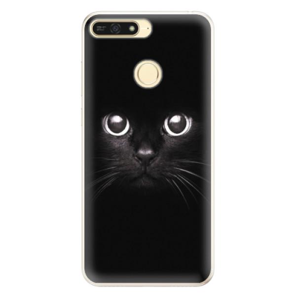 Silikonové pouzdro iSaprio - Black Cat - Huawei Honor 7A