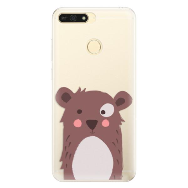 Silikonové pouzdro iSaprio - Brown Bear - Huawei Honor 7A