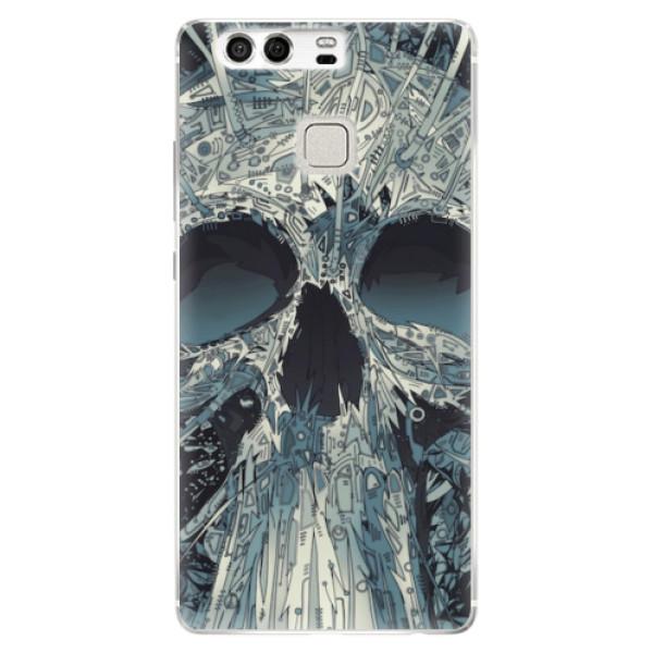 Silikonové pouzdro iSaprio - Abstract Skull - Huawei P9