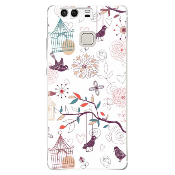 Silikonové pouzdro iSaprio - Birds - Huawei P9