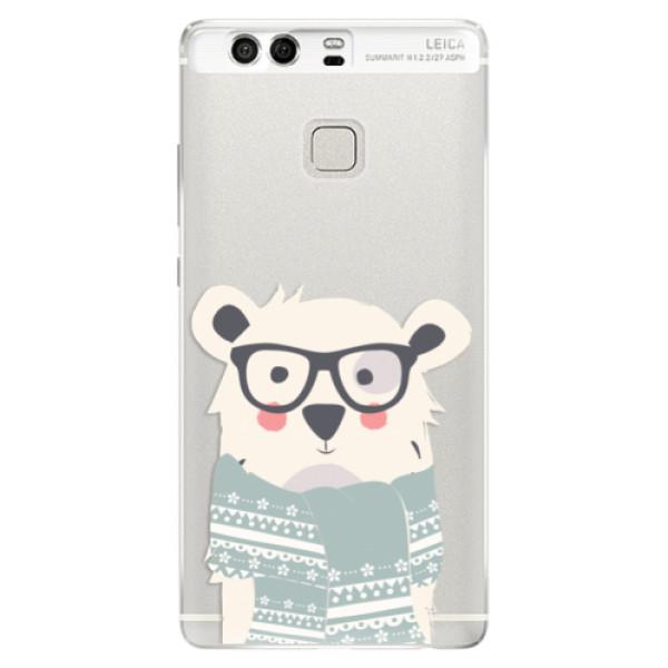 Silikonové pouzdro iSaprio - Bear with Scarf - Huawei P9