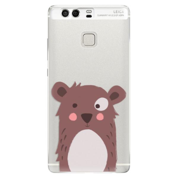 Silikonové pouzdro iSaprio - Brown Bear - Huawei P9