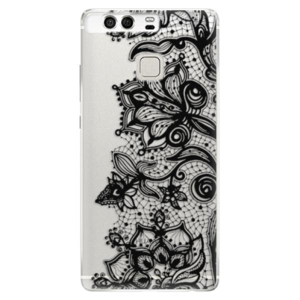 Silikonové pouzdro iSaprio - Black Lace - Huawei P9
