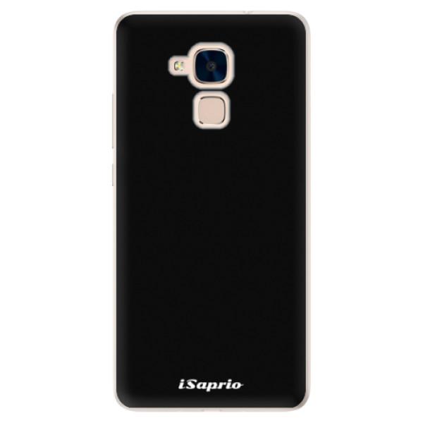 Silikonové pouzdro iSaprio - 4Pure - černý - Huawei Honor 7 Lite