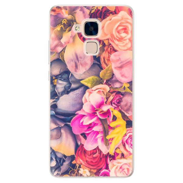 Silikonové pouzdro iSaprio - Beauty Flowers - Huawei Honor 7 Lite