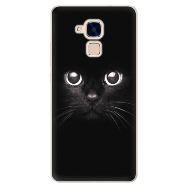Silikonové pouzdro iSaprio - Black Cat - Huawei Honor 7 Lite