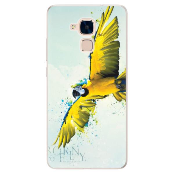 Silikonové pouzdro iSaprio - Born to Fly - Huawei Honor 7 Lite