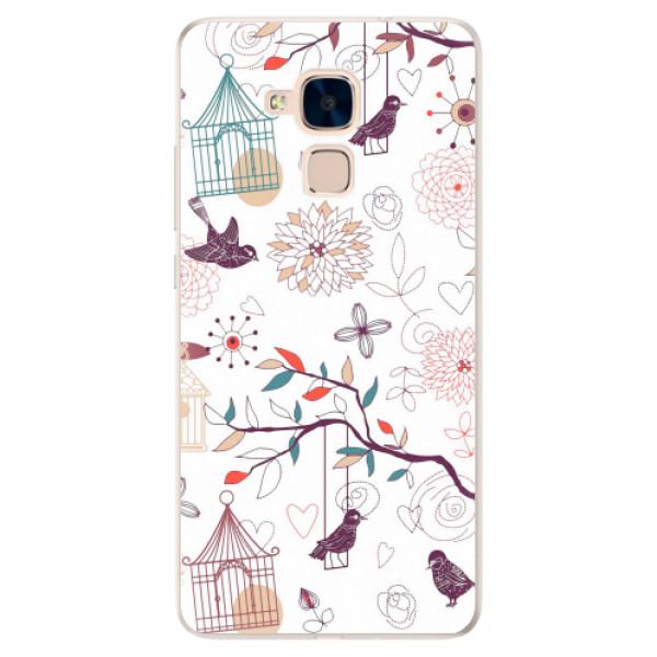 Silikonové pouzdro iSaprio - Birds - Huawei Honor 7 Lite