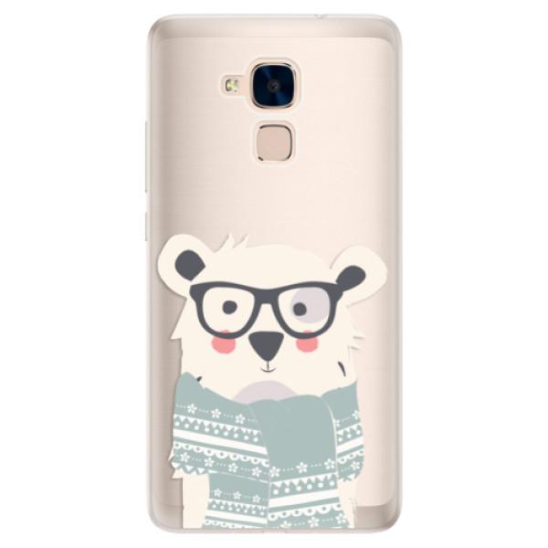 Silikonové pouzdro iSaprio - Bear with Scarf - Huawei Honor 7 Lite