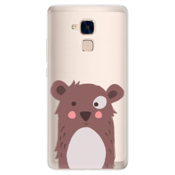 Silikonové pouzdro iSaprio - Brown Bear - Huawei Honor 7 Lite