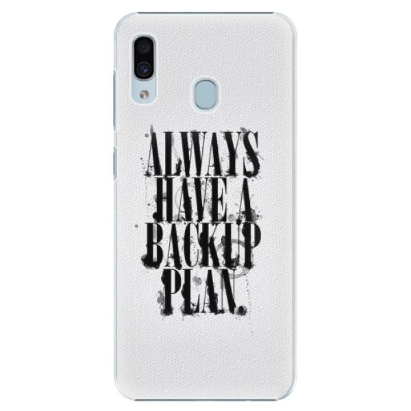 Plastové pouzdro iSaprio - Backup Plan - Samsung Galaxy A30