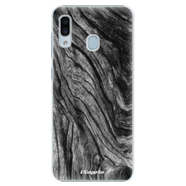 Plastové pouzdro iSaprio - Burned Wood - Samsung Galaxy A30