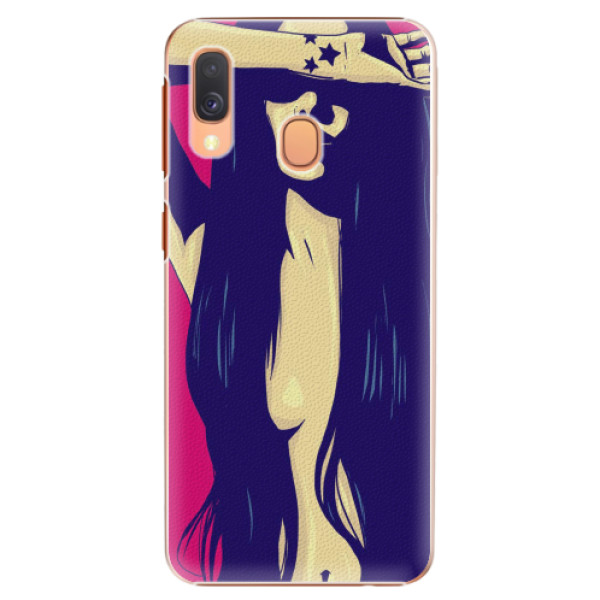 Plastové pouzdro iSaprio - Cartoon Girl - Samsung Galaxy A40