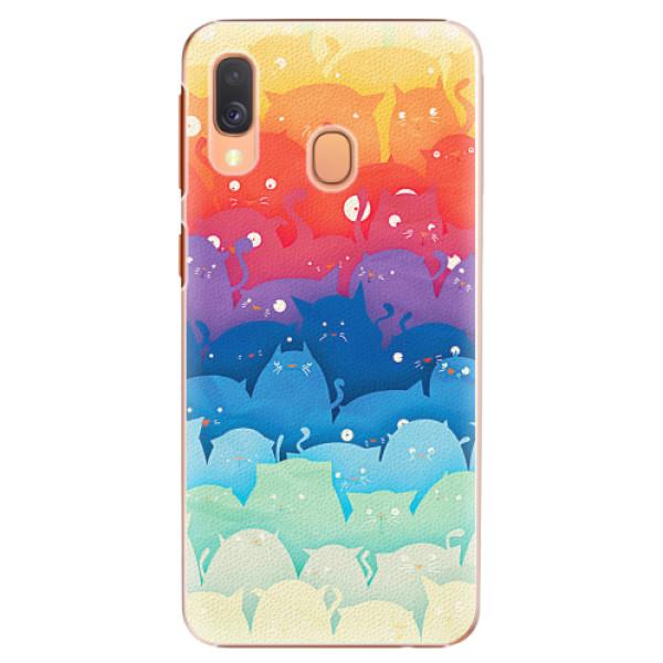 Plastové pouzdro iSaprio - Cats World - Samsung Galaxy A40