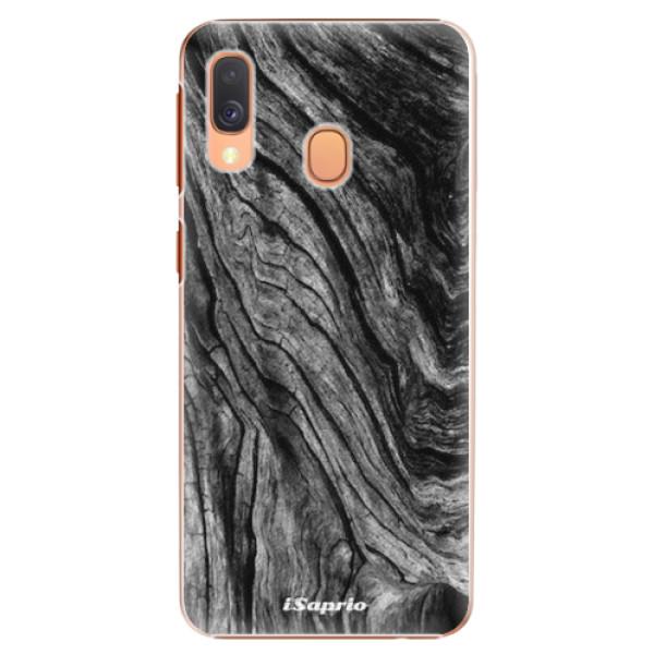Plastové pouzdro iSaprio - Burned Wood - Samsung Galaxy A40