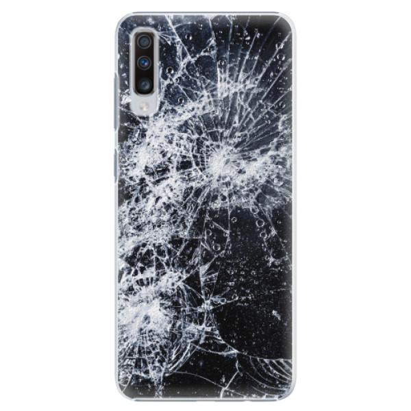 Plastové pouzdro iSaprio - Cracked - Samsung Galaxy A70