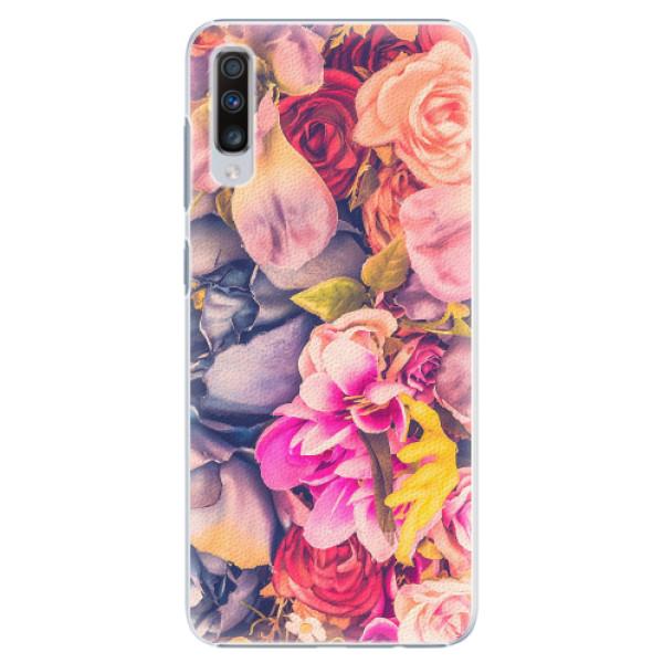 Plastové pouzdro iSaprio - Beauty Flowers - Samsung Galaxy A70