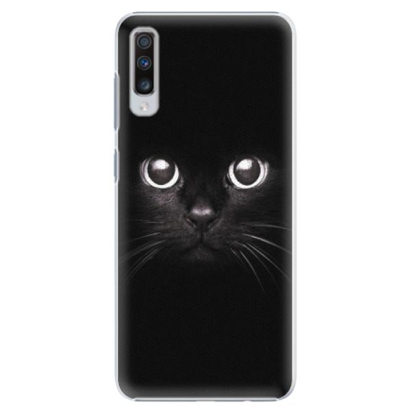 Plastové pouzdro iSaprio - Black Cat - Samsung Galaxy A70