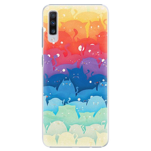 Plastové pouzdro iSaprio - Cats World - Samsung Galaxy A70