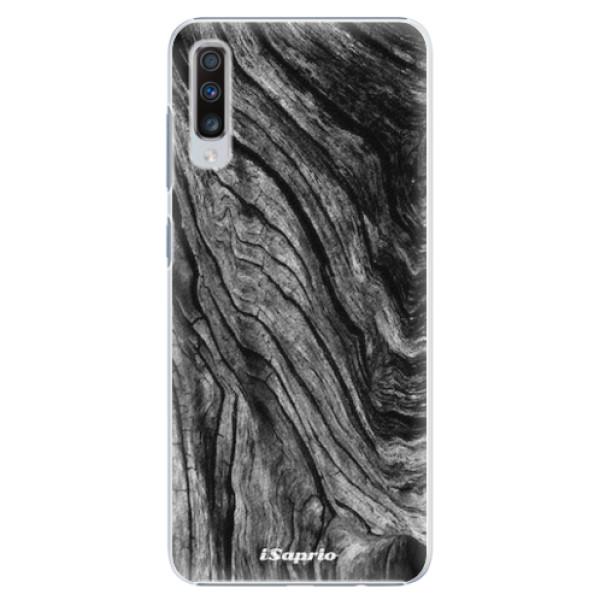 Plastové pouzdro iSaprio - Burned Wood - Samsung Galaxy A70