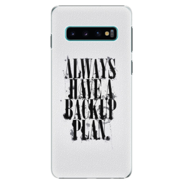 Plastové pouzdro iSaprio - Backup Plan - Samsung Galaxy S10