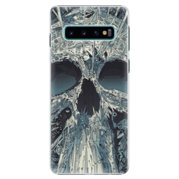 Plastové pouzdro iSaprio - Abstract Skull - Samsung Galaxy S10