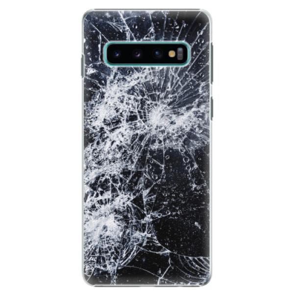 Plastové pouzdro iSaprio - Cracked - Samsung Galaxy S10