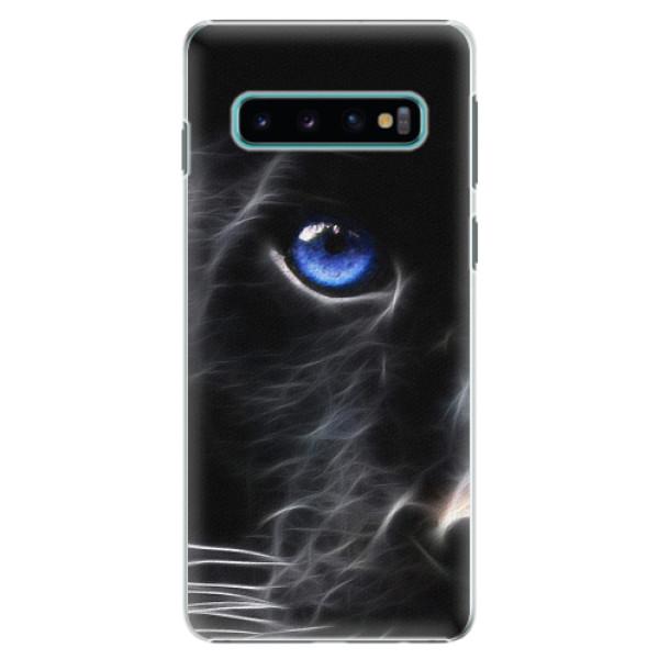 Plastové pouzdro iSaprio - Black Puma - Samsung Galaxy S10