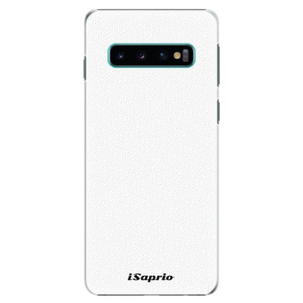 Plastové pouzdro iSaprio - 4Pure - bílý - Samsung Galaxy S10