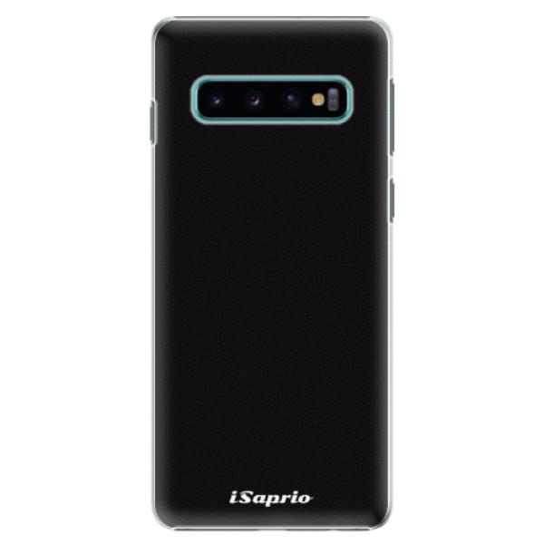 Plastové pouzdro iSaprio - 4Pure - černý - Samsung Galaxy S10