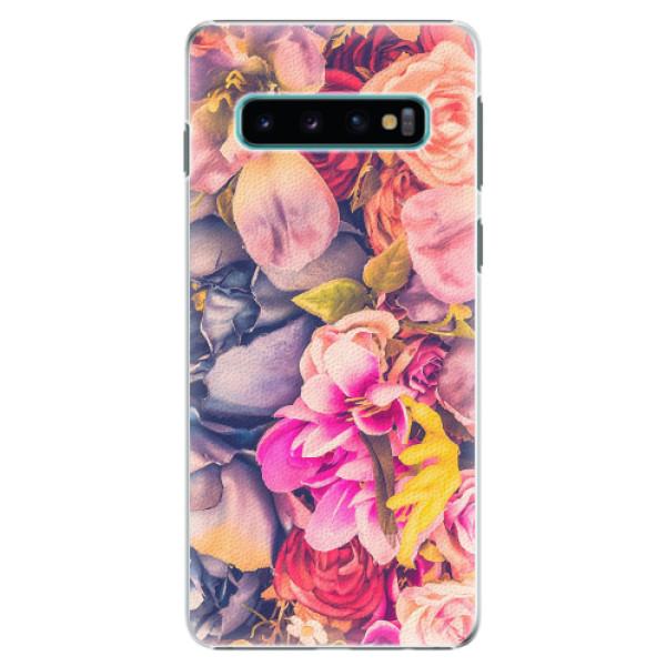 Plastové pouzdro iSaprio - Beauty Flowers - Samsung Galaxy S10