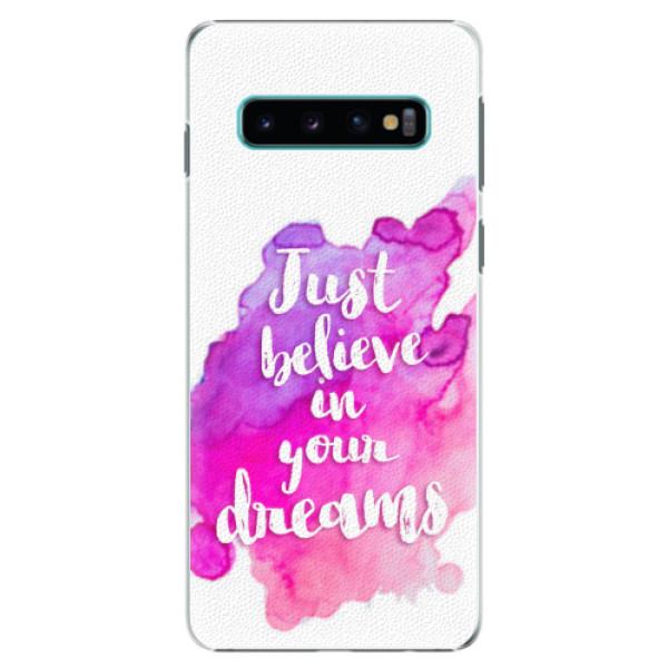 Plastové pouzdro iSaprio - Believe - Samsung Galaxy S10