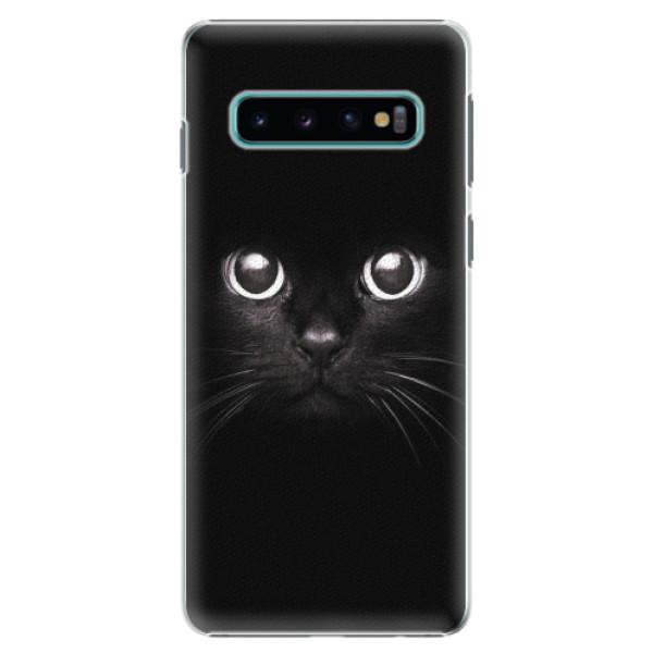 Plastové pouzdro iSaprio - Black Cat - Samsung Galaxy S10