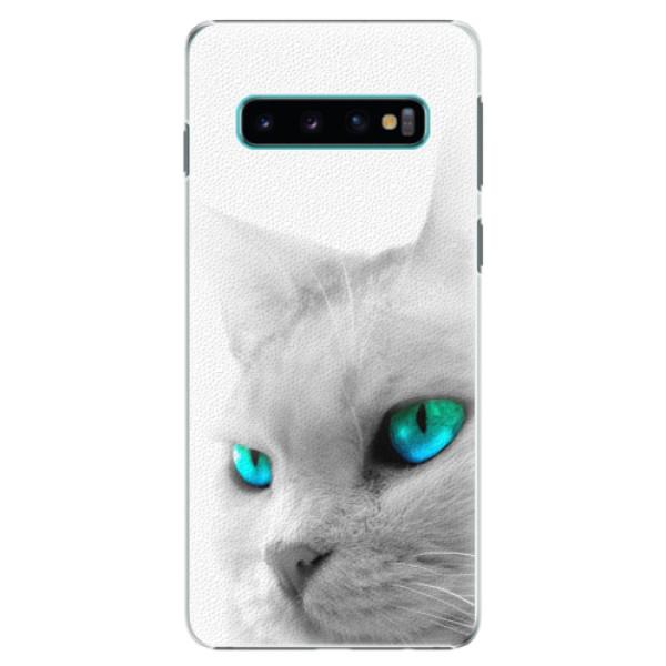 Plastové pouzdro iSaprio - Cats Eyes - Samsung Galaxy S10