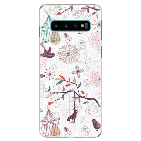 Plastové pouzdro iSaprio - Birds - Samsung Galaxy S10