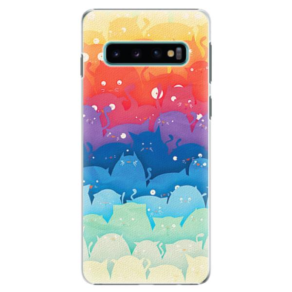 Plastové pouzdro iSaprio - Cats World - Samsung Galaxy S10