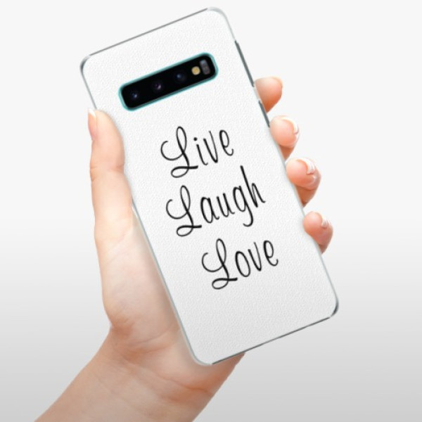 Plastové pouzdro iSaprio - Live Laugh Love - Samsung Galaxy S10