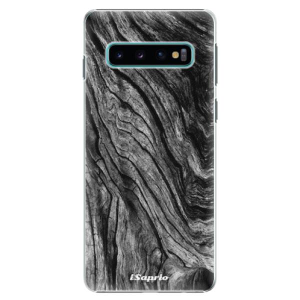Plastové pouzdro iSaprio - Burned Wood - Samsung Galaxy S10