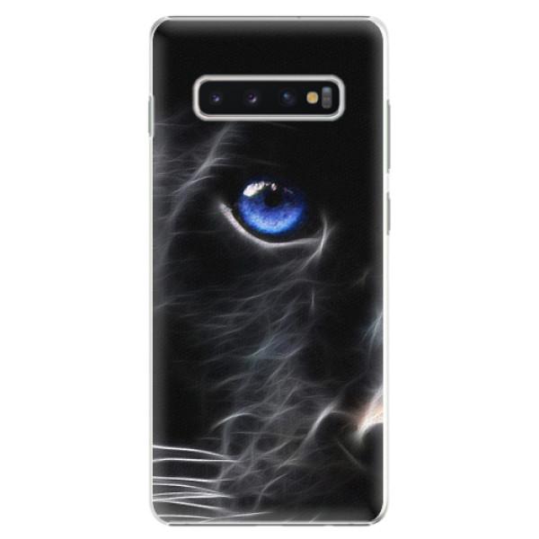 Plastové pouzdro iSaprio - Black Puma - Samsung Galaxy S10+