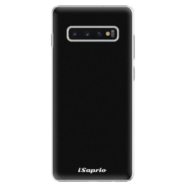 Plastové pouzdro iSaprio - 4Pure - černý - Samsung Galaxy S10+