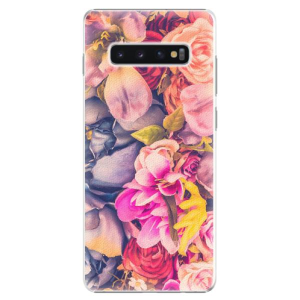 Plastové pouzdro iSaprio - Beauty Flowers - Samsung Galaxy S10+