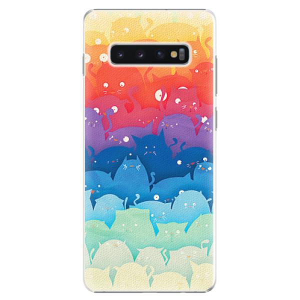 Plastové pouzdro iSaprio - Cats World - Samsung Galaxy S10+