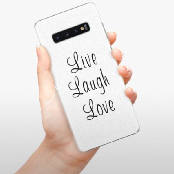 Plastové pouzdro iSaprio - Live Laugh Love - Samsung Galaxy S10+